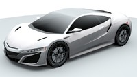 Acura NSX 2016 lowpoly