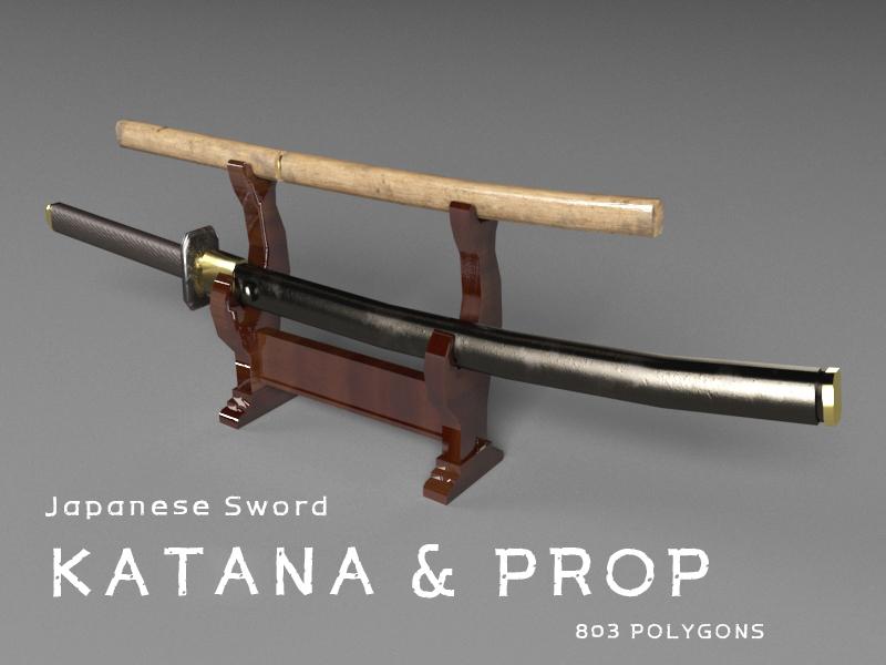 katana sword 3d max