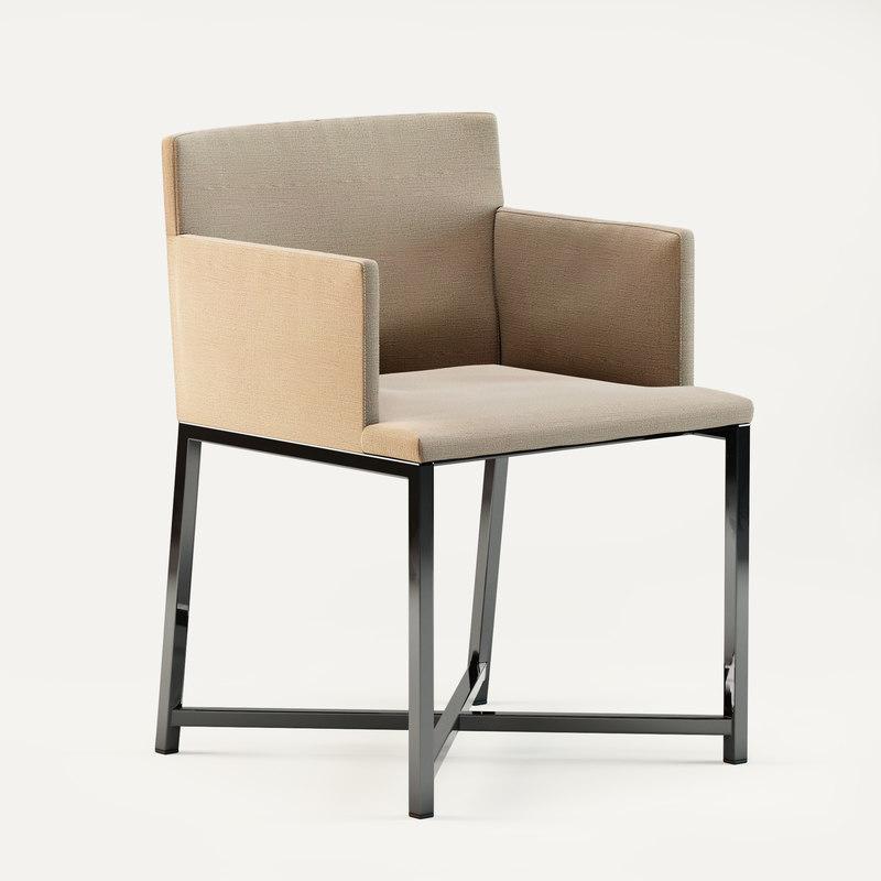 3d max minotti flynt cross armchair
