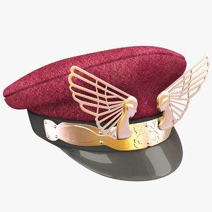 pilot hat obj