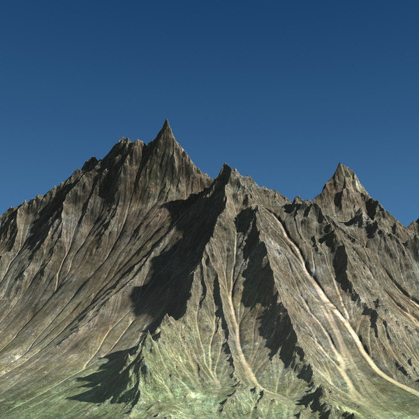 3d model of mountain range terrain landscape