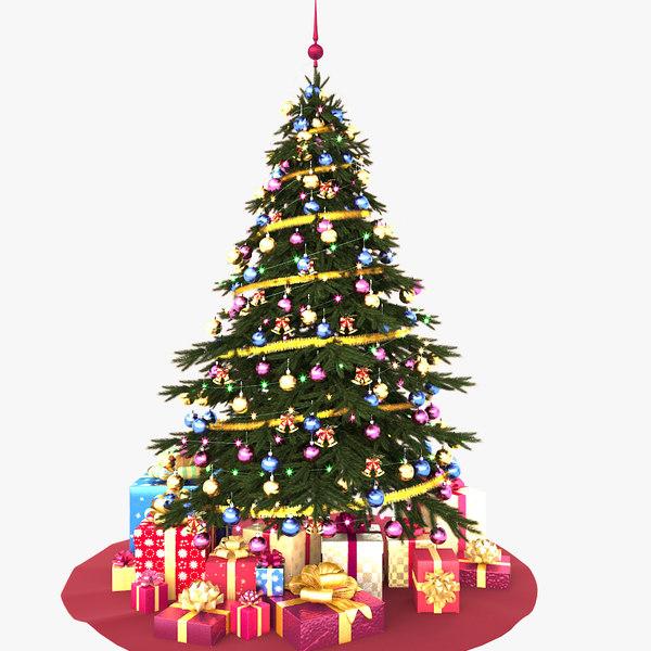 3d model christmas tree v4