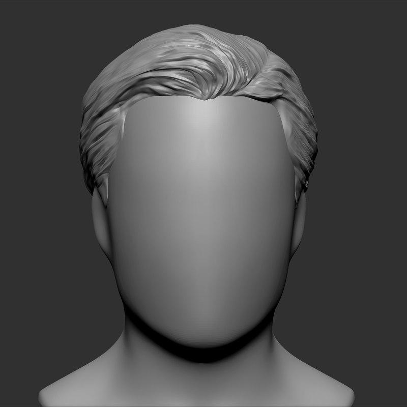beauty man hairstyle 3 obj