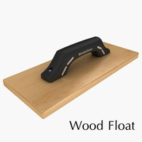 3d wood float