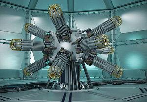 3d model green fusion reactor