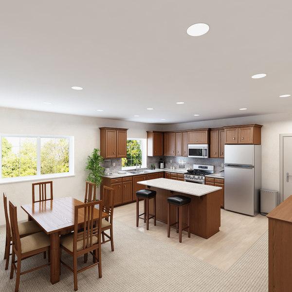 interior scene kitchen 1 3d model