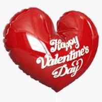 3d inflatable balloon foil heart