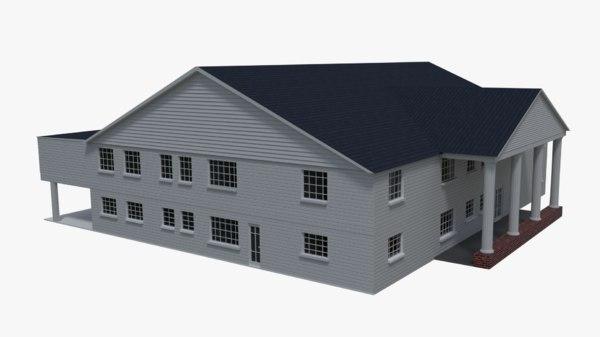 3d public building model