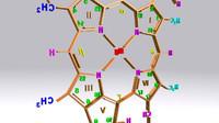 chlorophyll c structure 3d obj