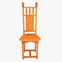 children plastic chairs 3d model