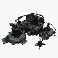 3d model civilian station