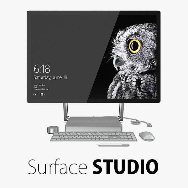 surface studio 3d model
