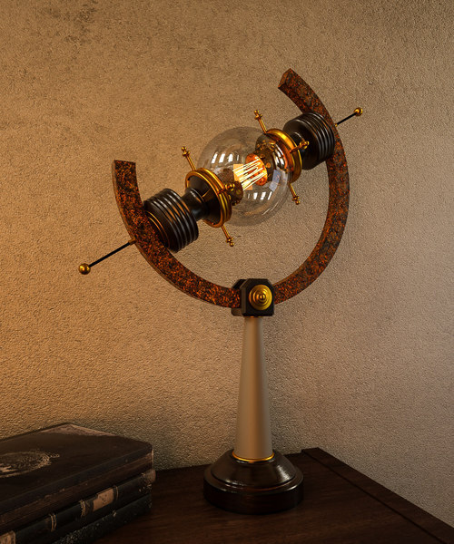 steampunk lamp c4d