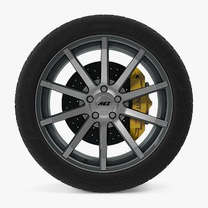 straight disk car wheel 3d dxf