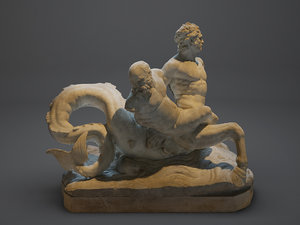 centaur louvre 3d model
