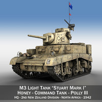 3d british - m3 light tank