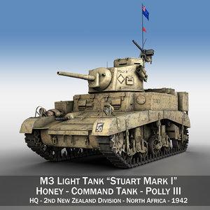 3d british - m3 light tank