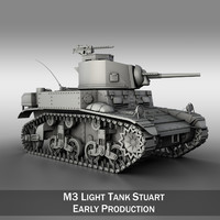 M3 Light Tank Stuart - Early Production