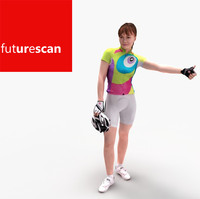 3d cyclist woman female