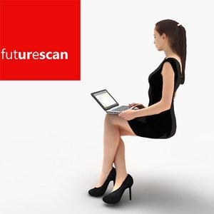 woman businesswoman business 3d model