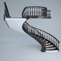 obj concrete stair