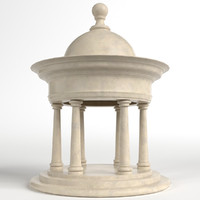 garden kiosk outdoor pavilion 3d model