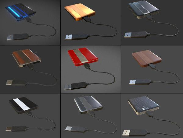external cable 3d model