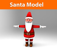 3d model of santa claus male