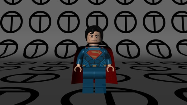 lego superman 3d model