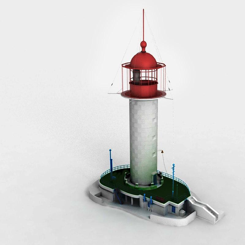 lighthouse fresnel lens 3d model