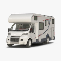 3d model motorhome generic simple interior
