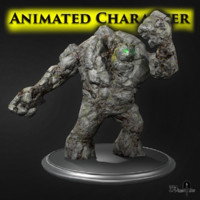 golem stone 3d model