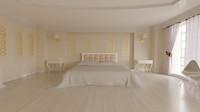 3d bedroom corona model