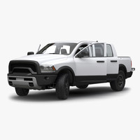 3d model generic pickup 2 rigged