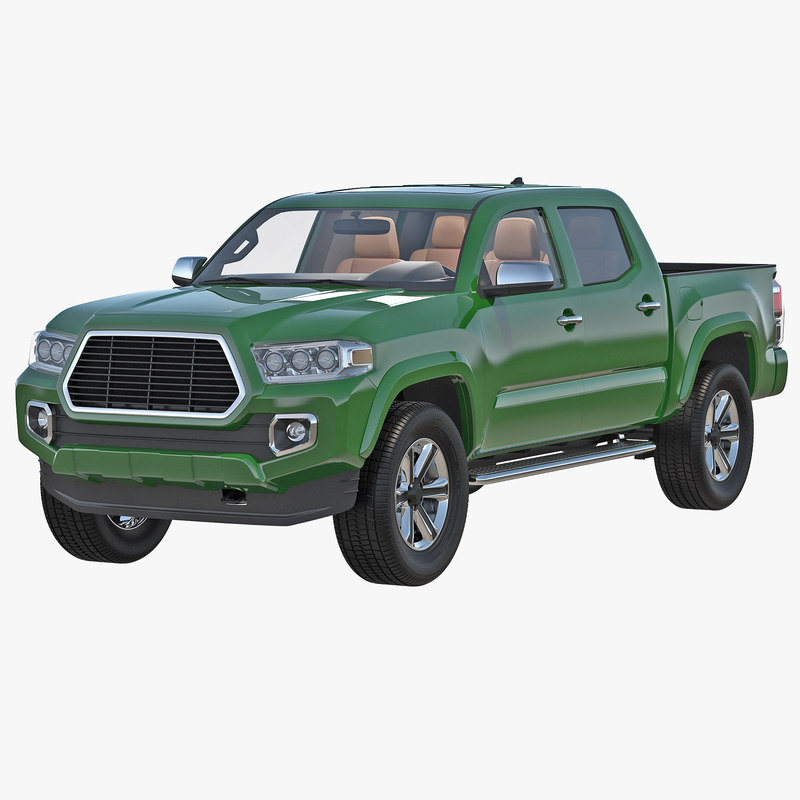 3d generic pickup simple interior model
