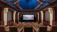 home theater 3d max