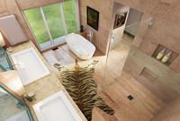 3d model realistic bathroom