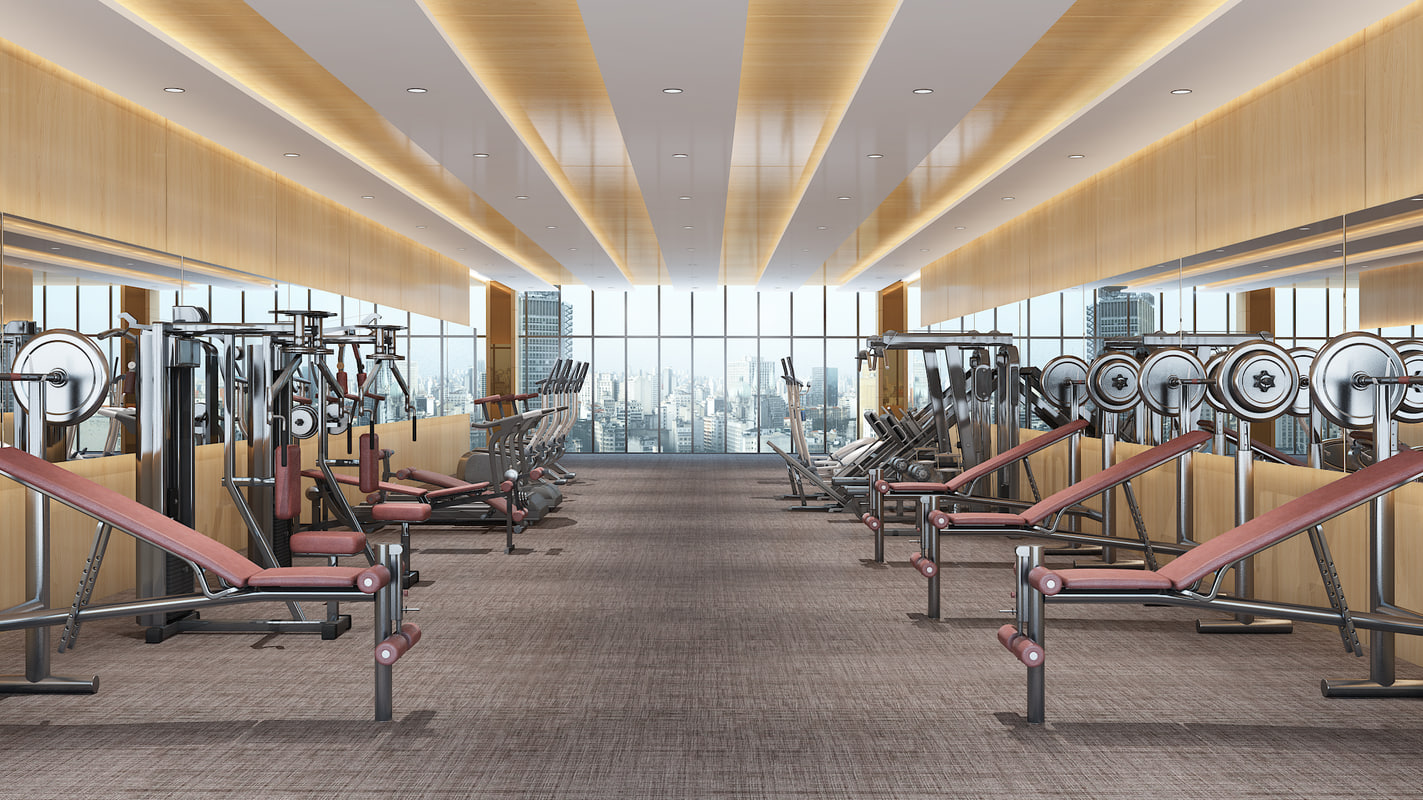 realistic gym 3d max