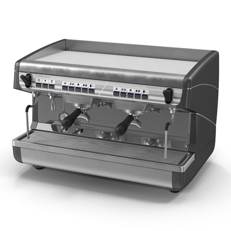 espresso machine generic 3d 3ds
