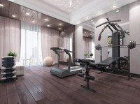 realistic gym private 3d max