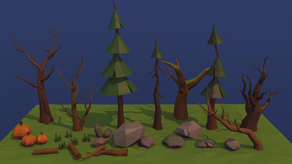 3d trees forest