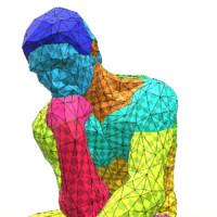 3d reproduced sculpture thinker model