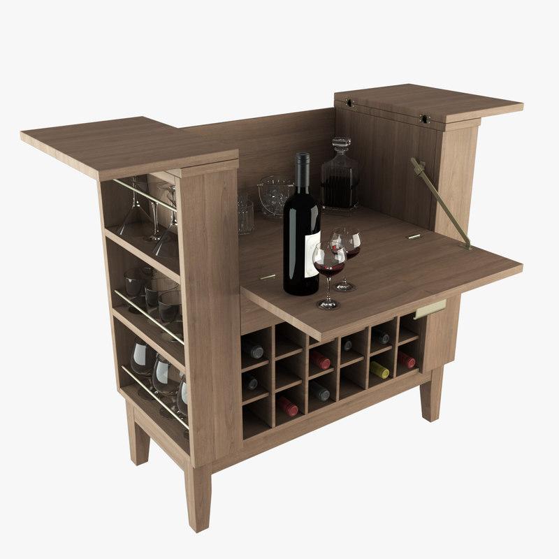 3d parker bar spirits model