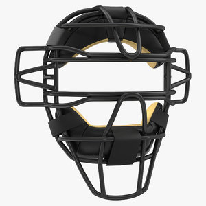 catchers face mask generic 3d 3ds