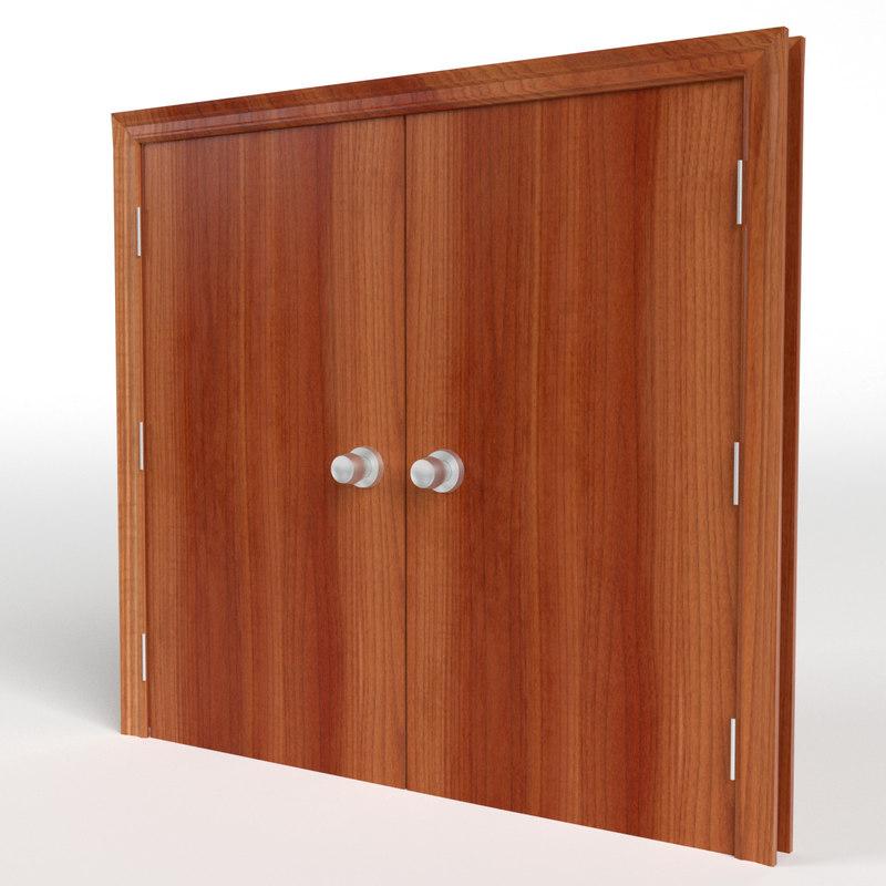 double flush door 3d model