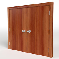 double flush door 3d model