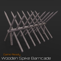 Wooden Spike Barricade