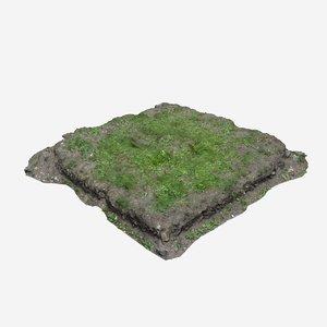 3d model terrain land