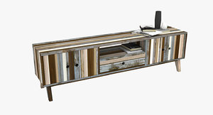 3d model recycled tv cabinet