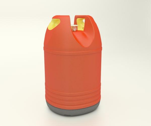 gas bottle 3d ma